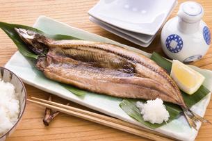 さんま開きの焼き魚の写真素材 [FYI04855986]