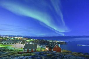 グリーンランドのオーロラの写真素材 [FYI04857088]