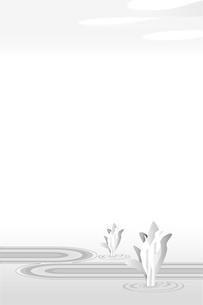 喪中のハガキ、水芭蕉のイラスト素材 [FYI04857537]