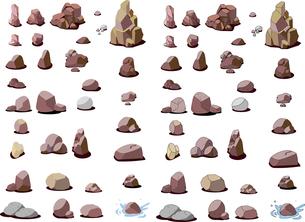 岩石のパーツのイラスト素材 [FYI04857565]