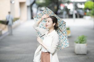 日傘をさした女性の写真素材 [FYI04858028]