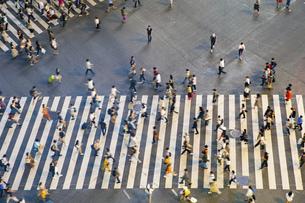 渋谷スクランブル交差点の写真素材 [FYI04858058]