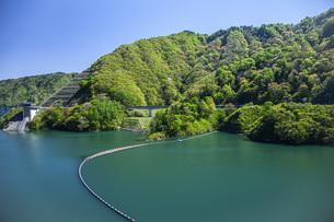 新緑のながい百秋湖の写真素材 [FYI04858569]