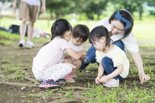 公園で遊ぶ子供たちの写真素材 [FYI04858959]
