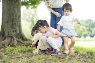 公園で遊ぶ子供たちの写真素材 [FYI04858963]