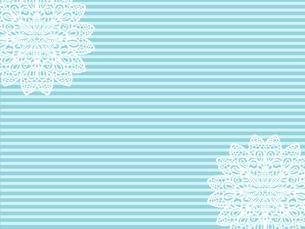 テーブルクロス レース編み 手芸 縞模様 編み物 ブルーのイラスト素材 [FYI04859106]