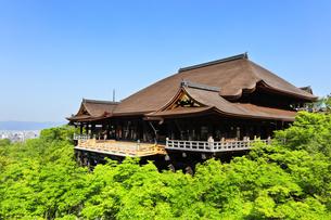 世界文化遺産 京都・清水寺の奥の院より本堂舞台の写真素材 [FYI04859368]