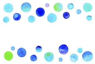 水彩の水玉模様 【はがきテンプレート】のイラスト素材 [FYI04859732]