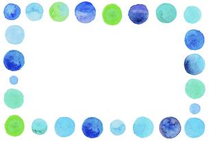 水彩の水玉模様 【装飾枠】のイラスト素材 [FYI04859734]