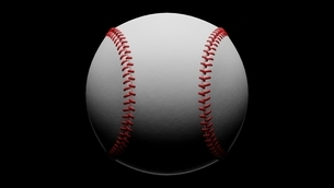 Baseball ball isolated on black background. 3d illustration for background.のイラスト素材 [FYI04859759]