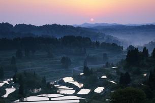 星峠の日の出 新潟県の写真素材 [FYI04859873]