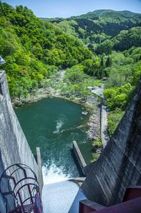 新緑の荒沢ダムの写真素材 [FYI04859948]