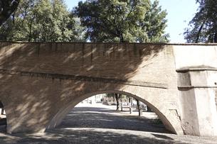 サン・ピエトロ大聖堂(バチカン)とサンタンジェロ城を結ぶパッセット・ディ・ボルゴと呼ばれる秘密の通路の写真素材 [FYI04860109]