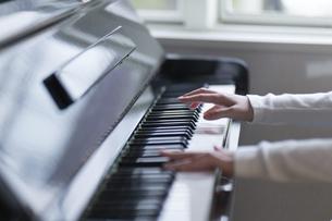 ピアノを弾く人の手元の写真素材 [FYI04860271]