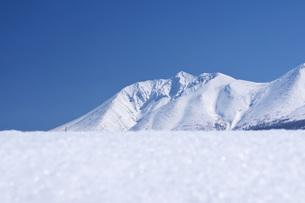 十勝岳連峰と白金模範牧場の写真素材 [FYI04861147]