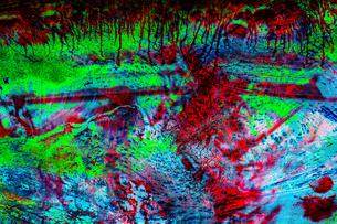 奇抜な色彩の抽象画のイラスト素材 [FYI04862649]