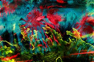 奇抜な色彩の抽象画のイラスト素材 [FYI04862652]