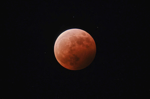 皆既月食の写真素材 [FYI04863185]