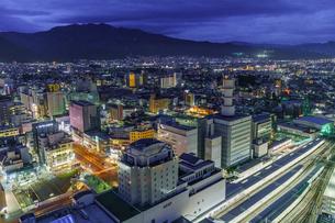 山形駅周辺の夜景の写真素材 [FYI04863242]