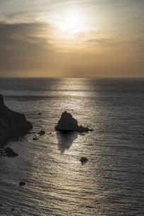 小樽・祝津パノラマ展望台からの夕空の写真素材 [FYI04863312]
