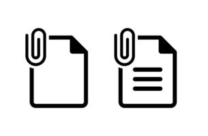 添付マークの書類アイコンセットのイラスト素材 [FYI04863820]