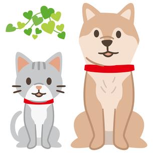 犬と猫のイラストレーションのイラスト素材 [FYI04863977]