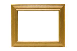 絵画の額(白背景)の写真素材 [FYI04864164]