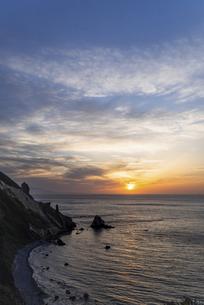 小樽・祝津パノラマ展望台からの夕空の写真素材 [FYI04864803]