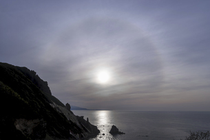 小樽・祝津パノラマ展望台から見た日暈の写真素材 [FYI04864981]