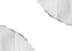 白いダンボール紙の装飾枠の写真素材 [FYI04865218]