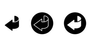 矢印の戻るアイコンやボタンのセットのイラスト素材 [FYI04865359]
