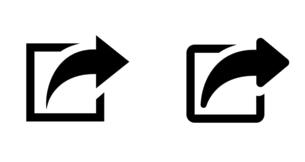 矢印アイコン ウェブの新しいページを開くボタンや外部ページへのリンク のイラスト素材 [FYI04865363]