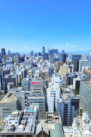 テレビ塔より名古屋駅方向の町並みの写真素材 [FYI04865428]