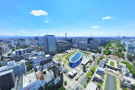 名古屋市 テレビ塔より南東方向の町並みの写真素材 [FYI04865433]