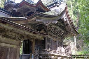 大瀧神社の彫刻の写真素材 [FYI04865975]