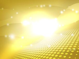 キラキラ背景 ゴールド 金色 眩い 閃光 炸裂のイラスト素材 [FYI04866132]