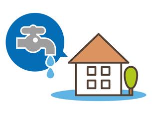 住宅の水漏れイメージのイラスト素材 [FYI04866325]