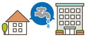 住宅の水漏れイメージのイラスト素材 [FYI04866327]