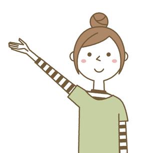 おすすめする若い女性 ママのイラスト素材 [FYI04866389]