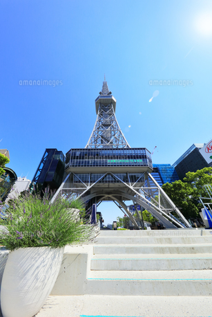 名古屋市 中部電力 MIRAI TOWERと太陽の写真素材 [FYI04866861]
