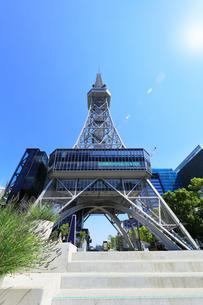 名古屋市 中部電力 MIRAI TOWERと太陽の写真素材 [FYI04866862]