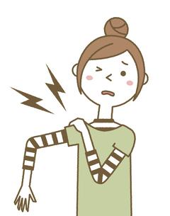 肩が痛い若い女性 ママのイラスト素材 [FYI04867014]