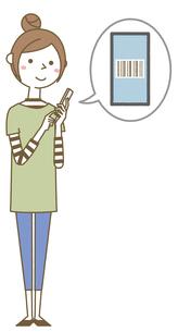 スマホを操作する若い女性 ママのイラスト素材 [FYI04867159]