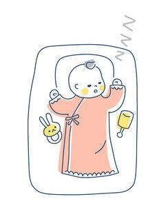 スヤスヤと眠る赤ちゃんのイラスト素材 [FYI04867237]