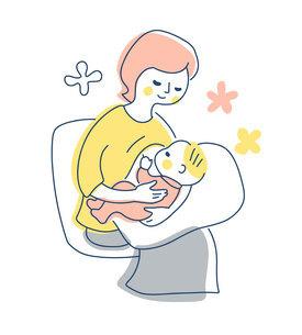 授乳中のママのイラスト素材 [FYI04867245]
