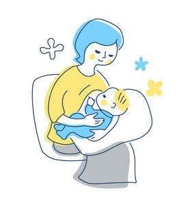 授乳中のママのイラスト素材 [FYI04867246]