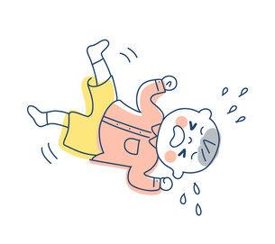 駄々をこねて泣く男の子のイラスト素材 [FYI04867247]