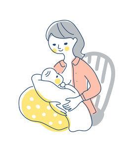 授乳中のママのイラスト素材 [FYI04867251]