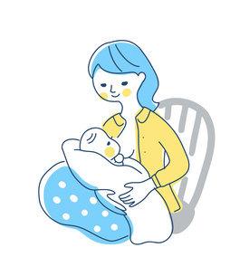 授乳中のママのイラスト素材 [FYI04867252]