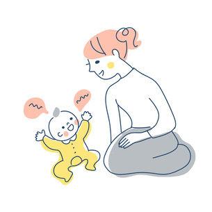 赤ちゃんとママのイラスト素材 [FYI04867263]